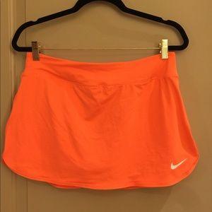 Brand new women's orange Nike Tennis skirt/ Skort